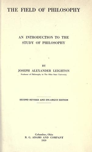 The field of philosophy