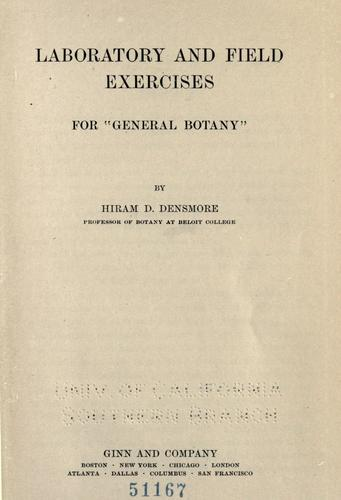 """Download Laboratory and field exercises for """"General botany"""""""