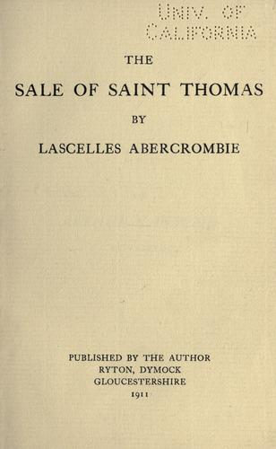 The sale of Saint Thomas