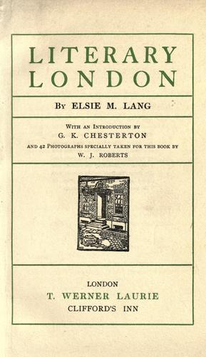 Download Literary London