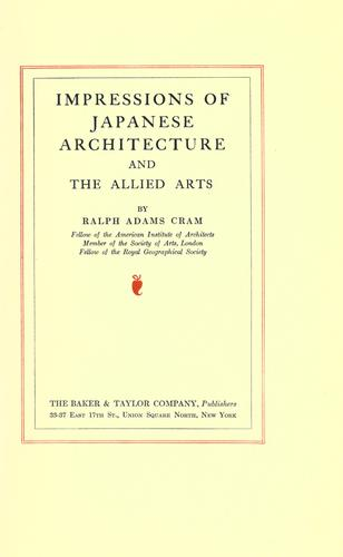 Download Impressions of Japanese architecture and the allied arts.