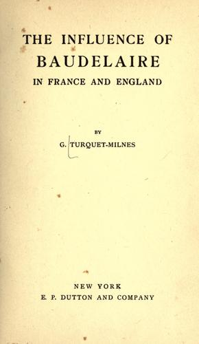 Influence of Baudelaire in France and England.