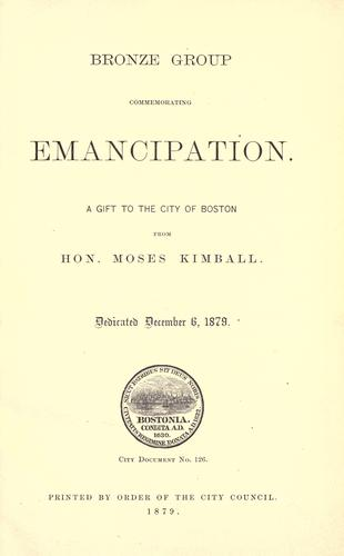 Download Bronze group commemorating emancipation
