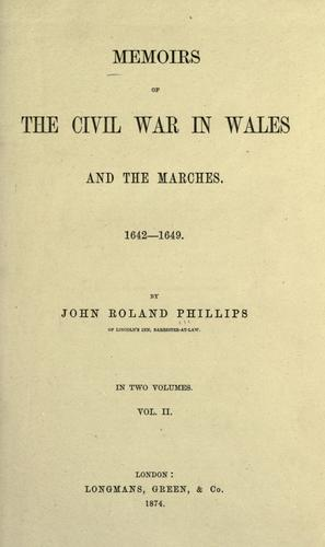 Download Memoirs of the civil war in Wales and the Marches.