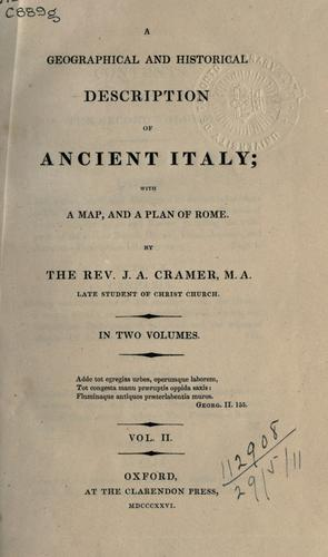 Download A geographical and historical description of Ancient Italy