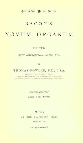 Bacon's Novum organum