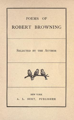 Download Poems of Robert Browning