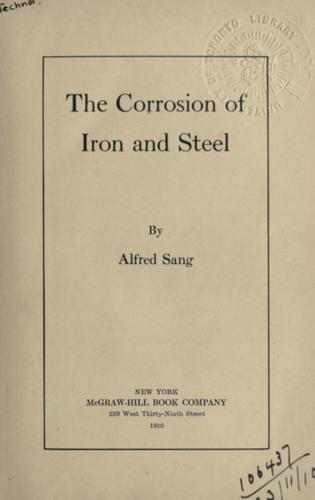 The corrosion of iron and steel.