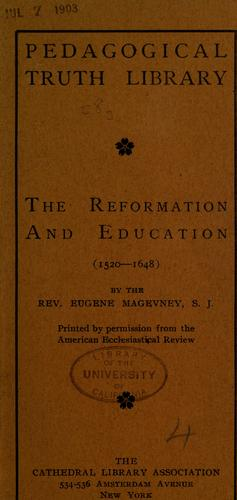 The Reformation and education (1520-1648)