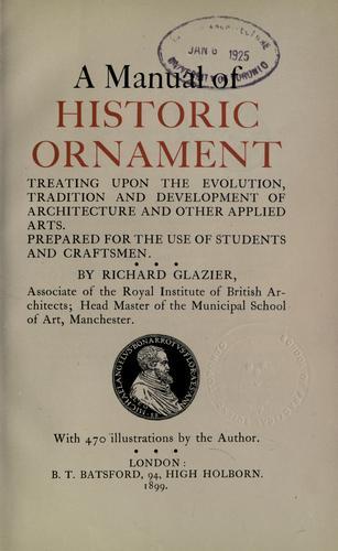 Download A manual of historic ornament