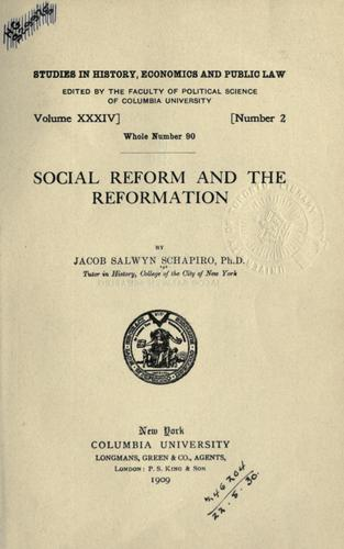 Download Social reform and the Reformation.