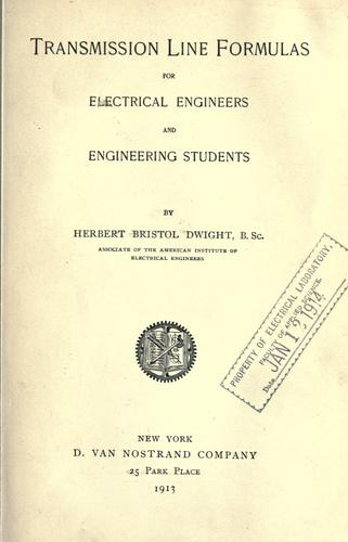 Transmission line formulas for electrical engineers and engineering students.