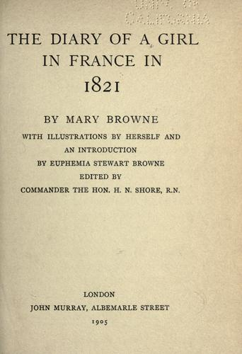 Download The diary of a girl in France in 1821
