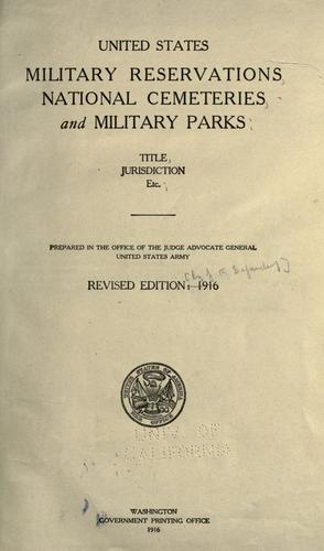 Download United States military reservations, National cemeteries, and military parks.