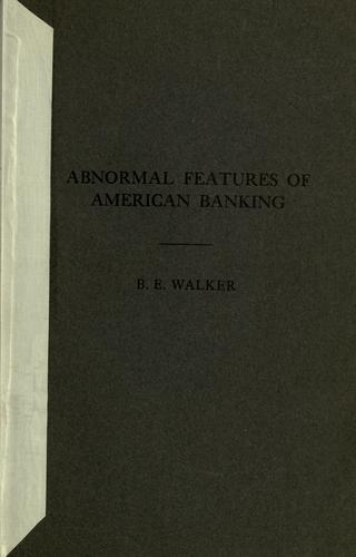 Abnormal features of American Banking