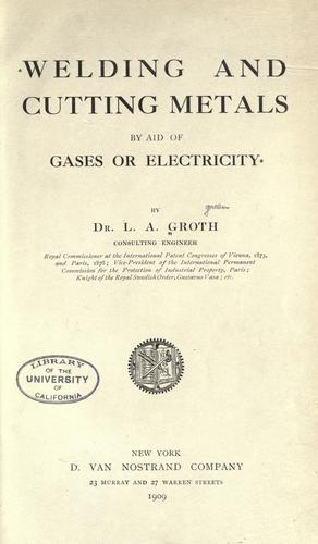 Download Welding and cutting metals by aid of gases or electricity