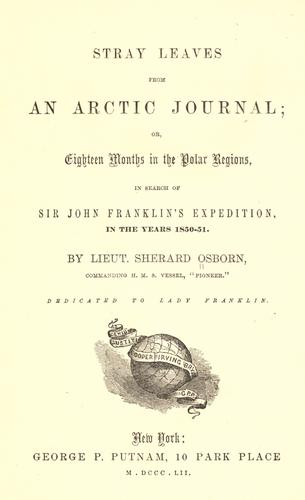Download Stray leaves from an Arctic journal