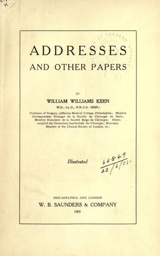Addresses and other papers.