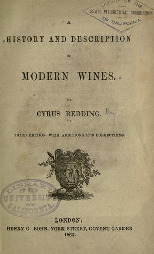 Download A history and description of modern wines