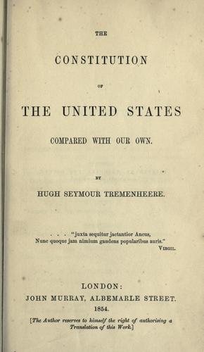 Download The Constitution of the United States compared with our own