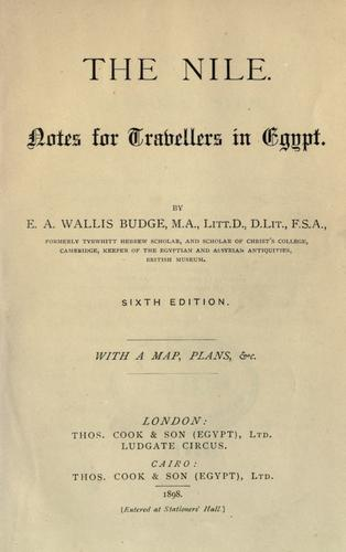 Download The Nile, notes for travellers in Egypt.