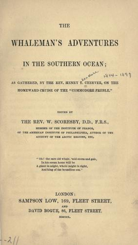 The whaleman's adventures in the southern ocean