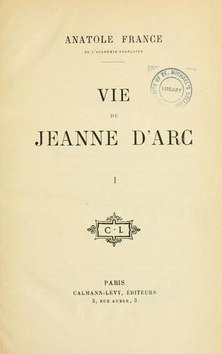 Download Vie de Jeanne d'arc.