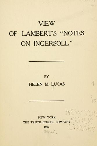 """Download View of Lambert's """"Notes on Ingersoll"""""""