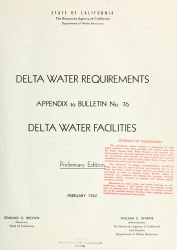 Delta water requirements