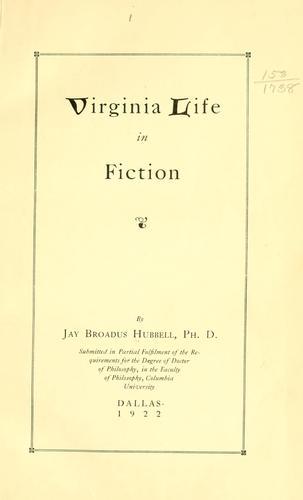 Virginia life in fiction