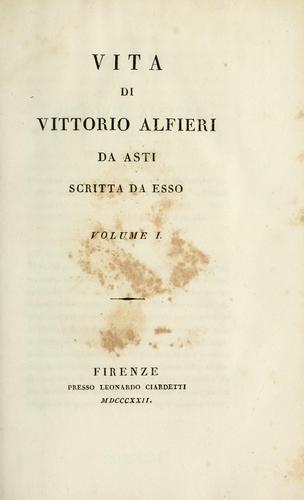 Vita di Vittorio Alfieri da Asti