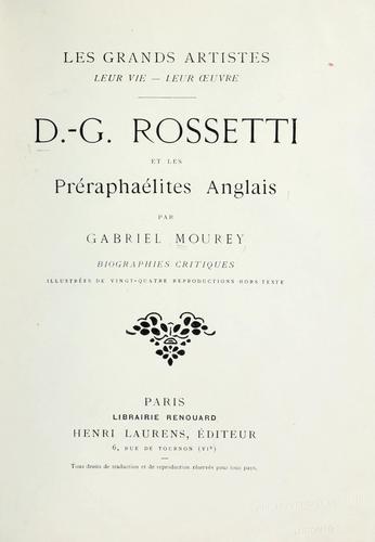 Download D.-G. Rossetti et les Préraphaélites anglais