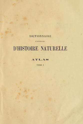 Download Dictionnaire universel d'histoire naturelle