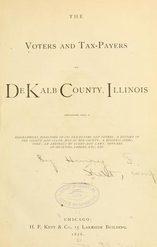 Download The voters and tax-payers of De Kalb County, Illinois