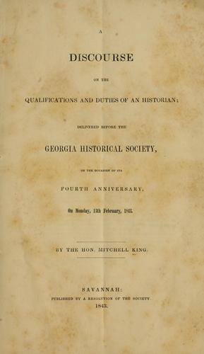Download A discourse on the qualifications and duties of an historian