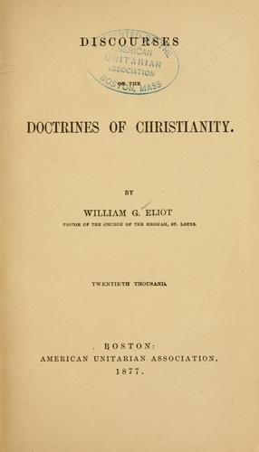 Download Discourses on the doctrines of Christianity.