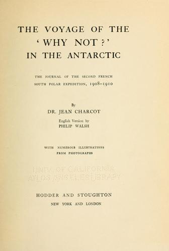 The voyage of the Why not?' in the Antarctic
