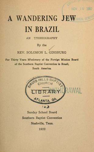 Download A wandering Jew in Brazil