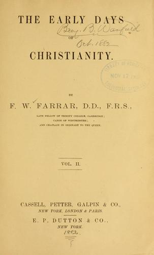 The early days of Christianity