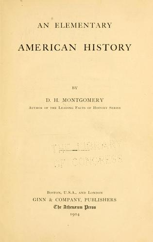 An elementary American history