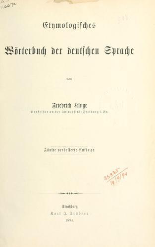 Download Etymologisches Wörterbuch der deutschen Sprache.