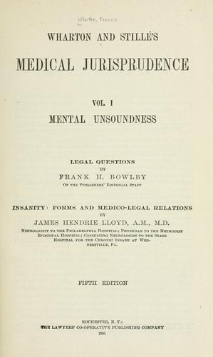 Download Wharton and Stillé's medical jurisprudence …