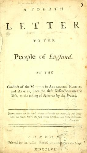 Download A fourth letter to the people of England