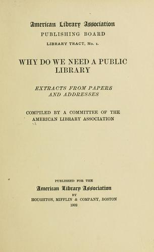 Why do we need a public library?