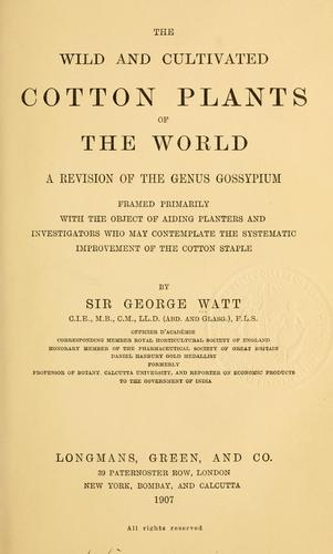 Download The wild and cultivated cotton plants of the world