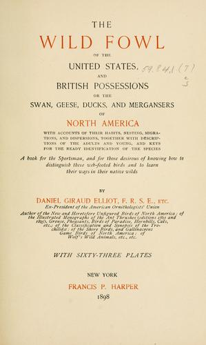 Download The wild fowl of the United States and British possessions