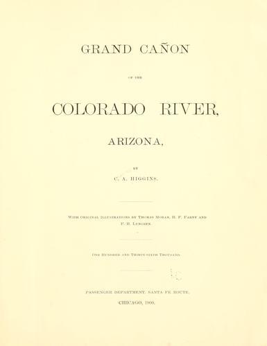 Download Grand cañon of the Colorado river, Arizona.