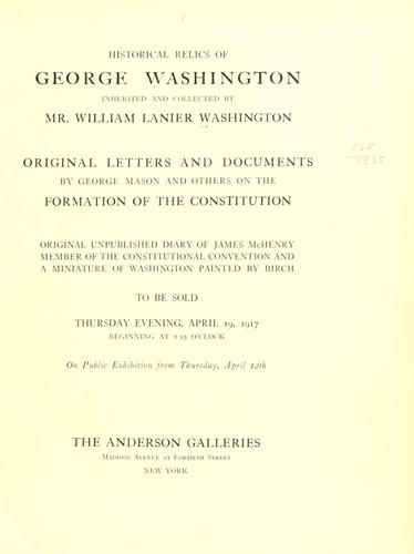 Download Historical relics of George Washington