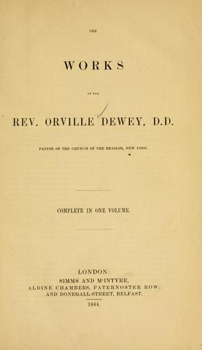 Download The works of Orville Dewey, D.D. …