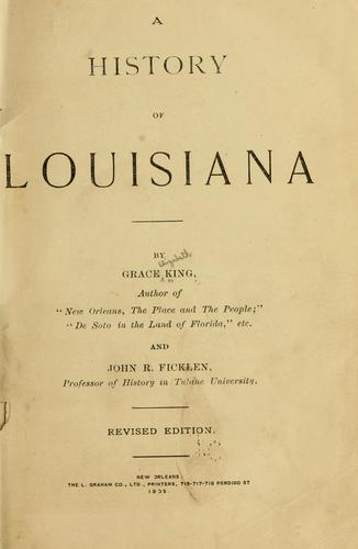 Download A history of Louisiana